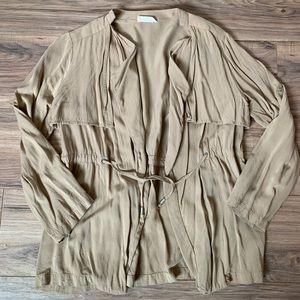 Tan light weight jacket